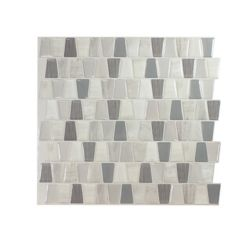 Smart Tiles Tuiles décoratives Peel and Stick pour murs, 10,36 po x 9,48 po, Cavalis Tenero, multicolore, ens. de 4