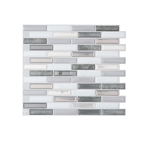 Milenza Bigio 10.20-inch W x 9.00-inch H Peel and Stick Decorative Wall Tile (4-Pack)
