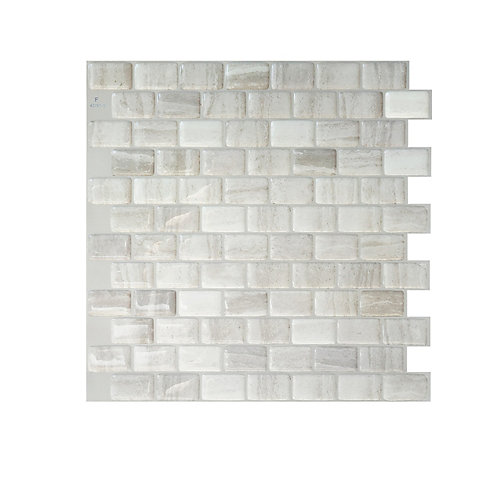 Ravenna Farro 9.80-inch W x 9.74-inch H Peel and Stick Decorative Wall Tile (4-Pack)