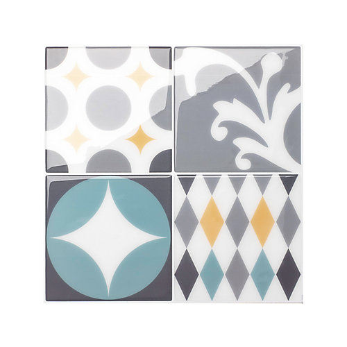 Vintage Cadiz 9-inch x 9-inch Peel and Stick Decorative Wall Tile (4-Pack)