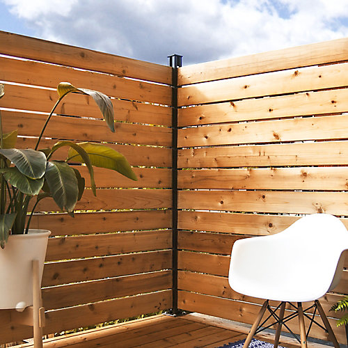 KIT B - 1 Corner Post & Hardware for Privacy Screens and Fences