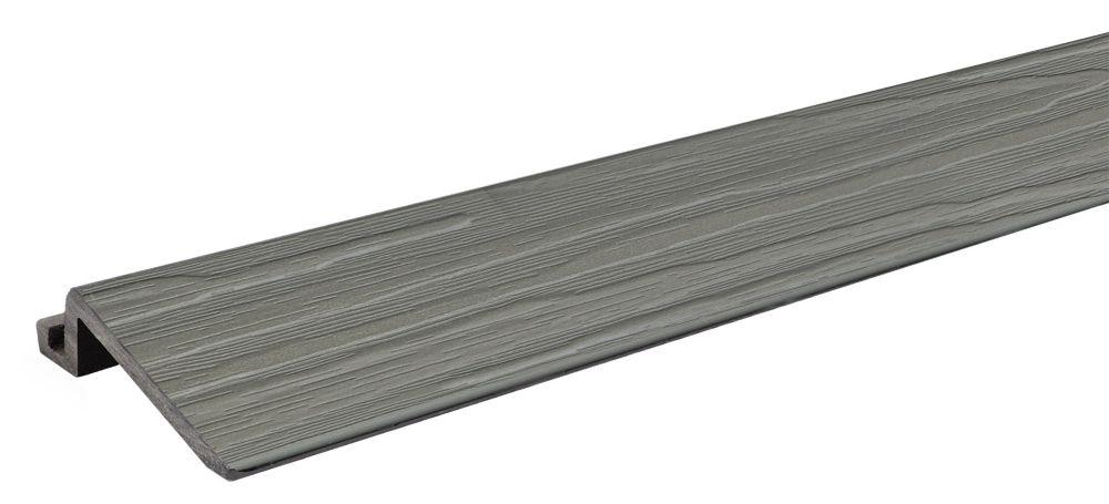 Aura 2 ft. - Transition Strip for Deck and Balcony Tile - Grey Oak - 4Pk