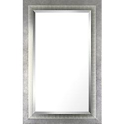 Art Maison Canada 26.5x42.5 Liner argent Accent biseau bois véritable miroir de