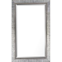 Art Maison Canada 24.5x40.5 Silver & Gray Finish Real Wood Bevel Mirror