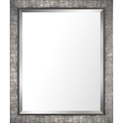 Art Maison Canada 28.5x34.5 Silver & Gray Finish Real Wood Bevel Mirror