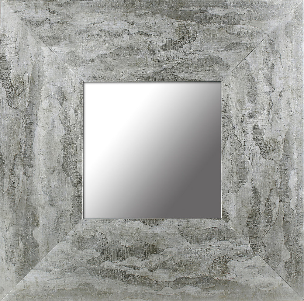 12.5x12.5 ensemble de 4, feuille d'argent dégradé cadre Accent miroir