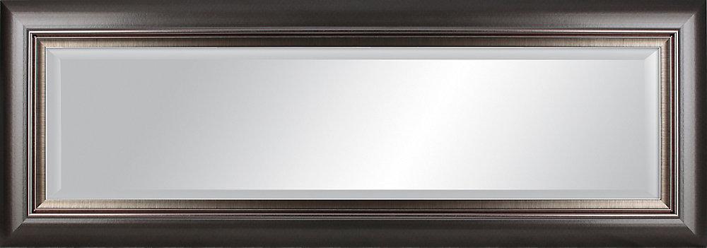 19 x 55 Graphite Grey Design Miroir biseauté de