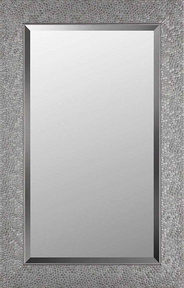 21.25x33.25 coquillage argent Miroir biseauté miroir de