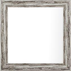 Art Maison Canada 10.25x10.25 ensemble de 4, Pastel gris lavage plaine miroir