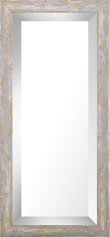 9.75x21.75 Pastel lavage bois biseauté miroir