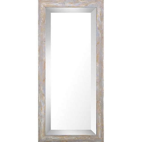 Art Maison Canada 9.75x21.75 Pastel Wood Wash Bevel Mirror