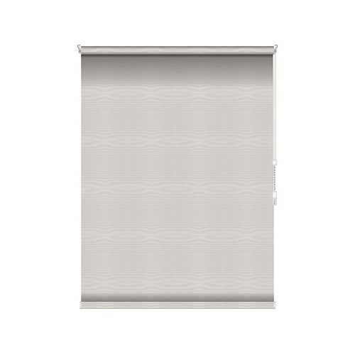 Sun Glow Blackout Roller Shade - Chain Operated Open Roll - 27.5-inch X 60-inch in Ice