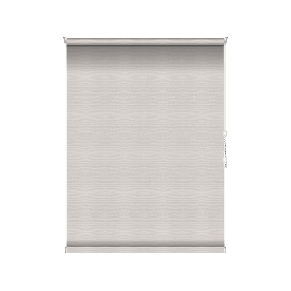 Sun Glow Blackout Roller Shade - Chain Operated Open Roll - 30.75-inch X 60-inch in Ice