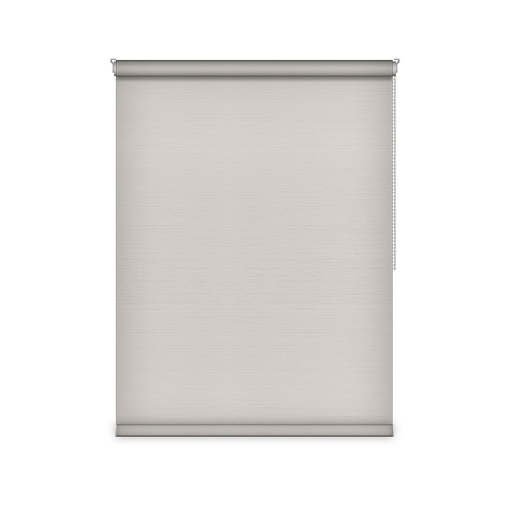 Sun Glow Blackout Roller Shade - Chain Operated Open Roll - 60.5-inch X 60-inch in Ice