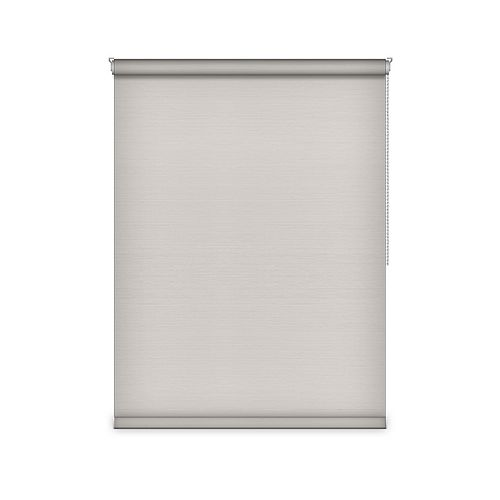 Sun Glow Blackout Roller Shade - Chain Operated Open Roll - 49.75-inch X 84-inch in Ice