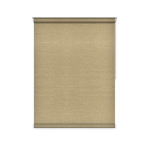 Sun Glow Blackout Roller Shade - Chain Operated Open Roll - 73.75-inch X 36-inch in Champagne