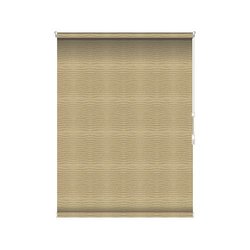 Sun Glow Blackout Roller Shade - Chain Operated Open Roll - 77.5-inch X 36-inch in Champagne