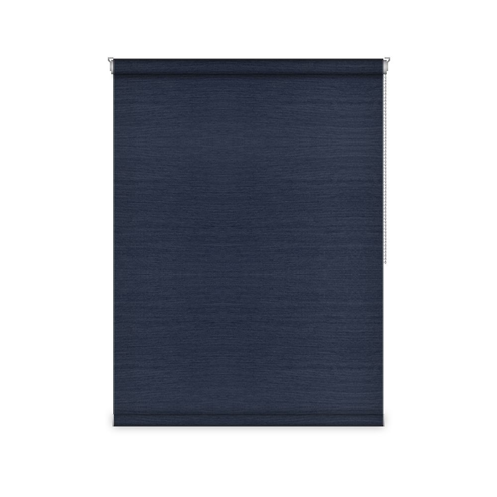 Sun Glow Blackout Roller Shade - Chain Operated Open Roll - 21-inch X 60-inch in Navy