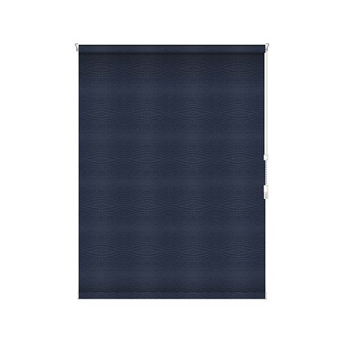 Sun Glow Blackout Roller Shade - Chain Operated Open Roll - 51.75-inch X 60-inch in Navy