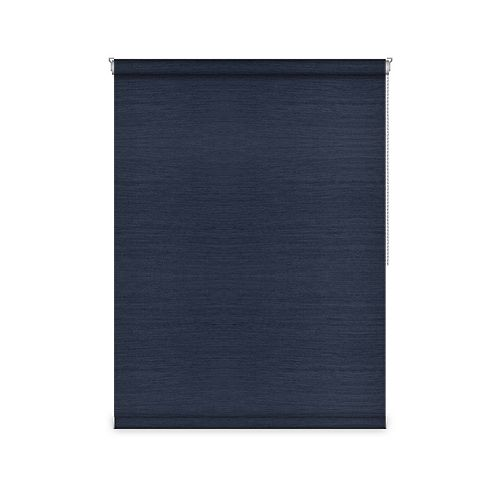 Sun Glow Blackout Roller Shade - Chain Operated Open Roll - 59.75-inch X 60-inch in Navy