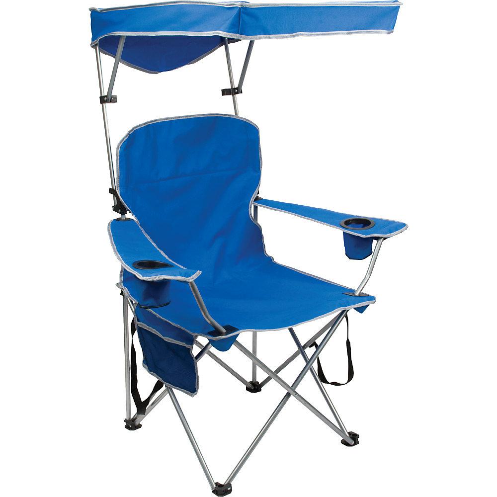 Chaise pliante Pleine grandeur avec auvent - Bleu royal