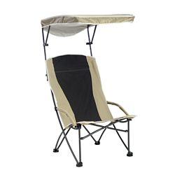 Quik Shade Pro Comfort High Back Shade Folding Chair - Tan/Black