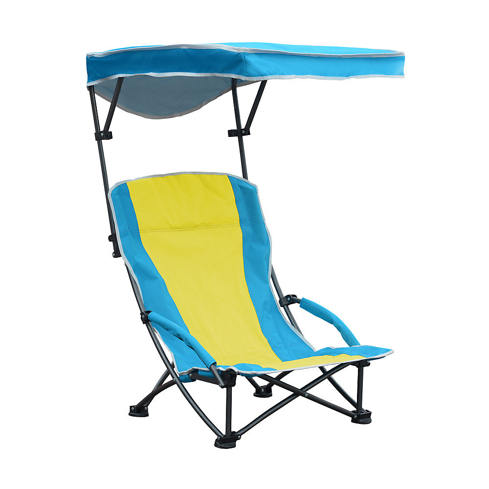 Pro Comfort Low Back Shade Folding Chair - Blue/Yellow