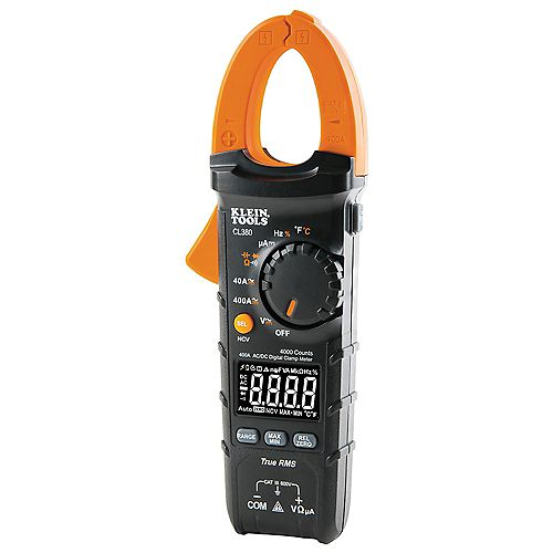 Klein Tools AC/DC Digital Clamp Meter, 400A Auto-Ranging