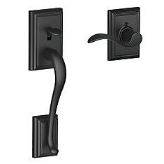 lower half handleset  in Addison trim with Accent lever in Matte Black