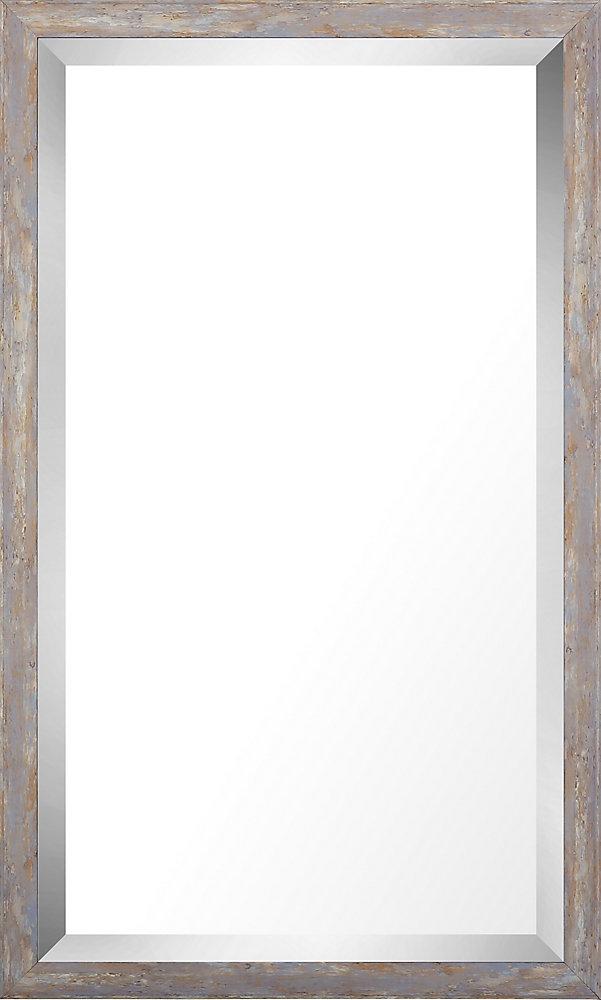 17.75x29.75 Pastel bois lavage Miroir biseauté miroir de