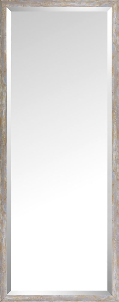 Art Maison Canada 19.75x49.75 Pastel Wood Wash Mirror Bevel Mirror