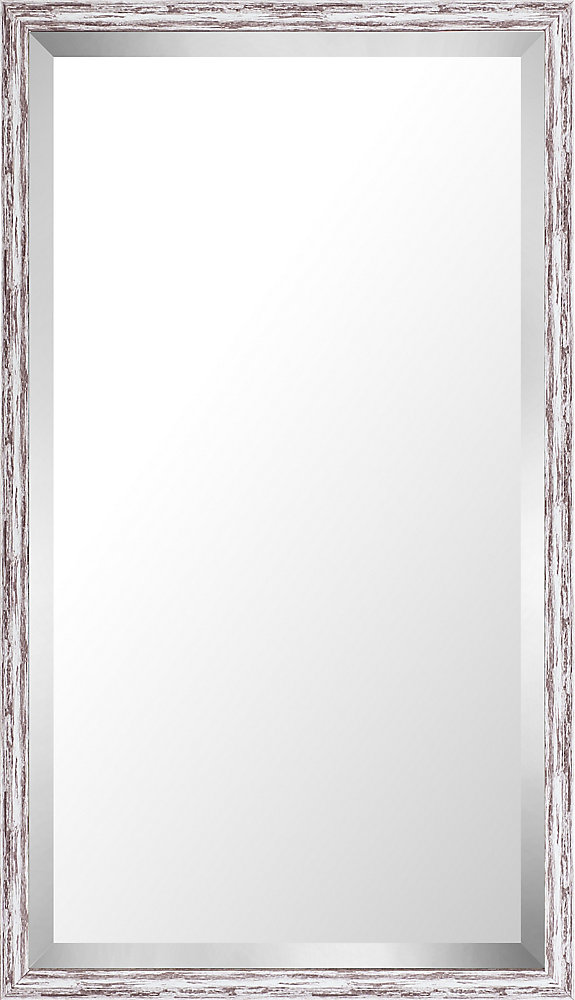 21.75x37.75 Pastel Gray Wash Mirror Bevel Mirror