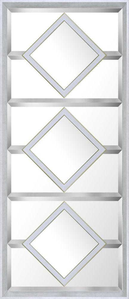 Art Maison Canada 21.5x49.5 White Squares Designer Bevel Mirror