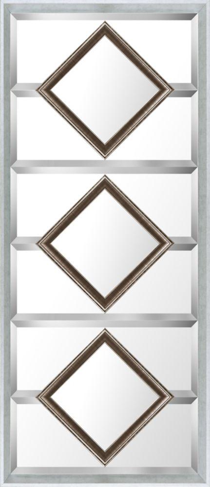 Art Maison Canada 21.5x49.5 Gold Squares Designer Bevel Mirror