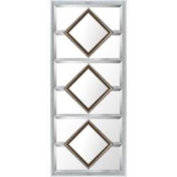Art Maison Canada 21.5x49.5 or carrés coniques design miroir de