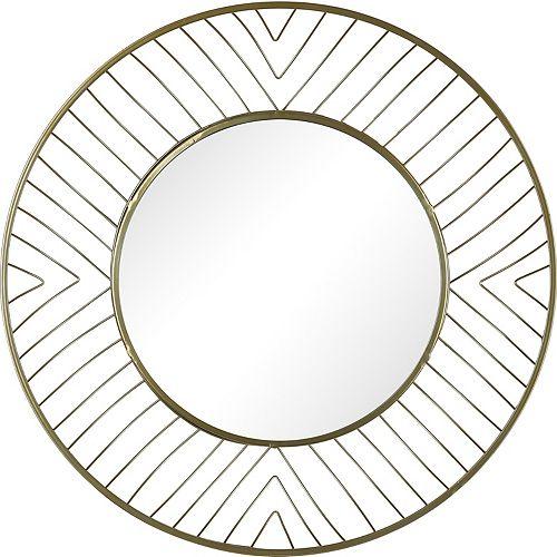 Art Maison Canada Dia: 32-inch Round Metal Mirror Plain Mirror
