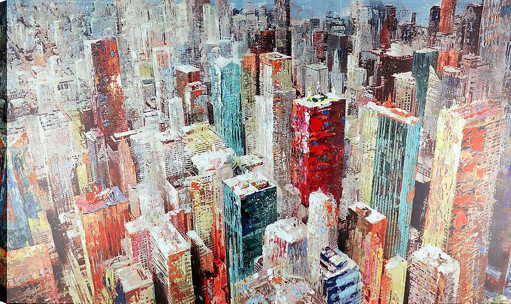 36 x 60 Cityscape je toile imprimer Wall Art