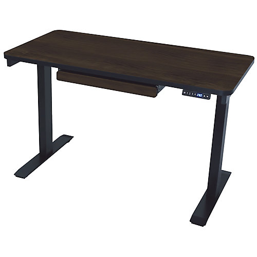 Electric Height Adjustable Desk Manager Style 24-inch x 48-inch American Walnut
