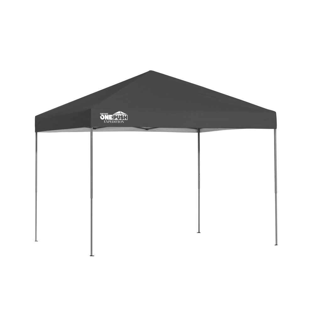 Quik Shade Expedition EX80 One Push 8 x 10 ft. Straight Leg Canopy - Charcoal  sc 1 st  The Home Depot Canada & Shade Tech 10 ft. x 10 ft. Instant Patio Canopy in Black | The Home ...