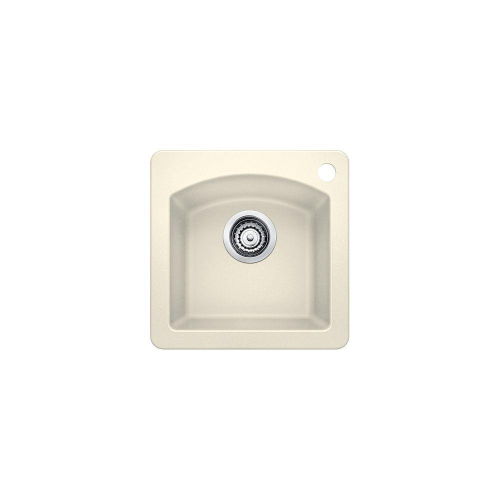 Blanco DIAMOND Mini Drop-in Bar/Prep Sink, SILGRANIT, Biscuit
