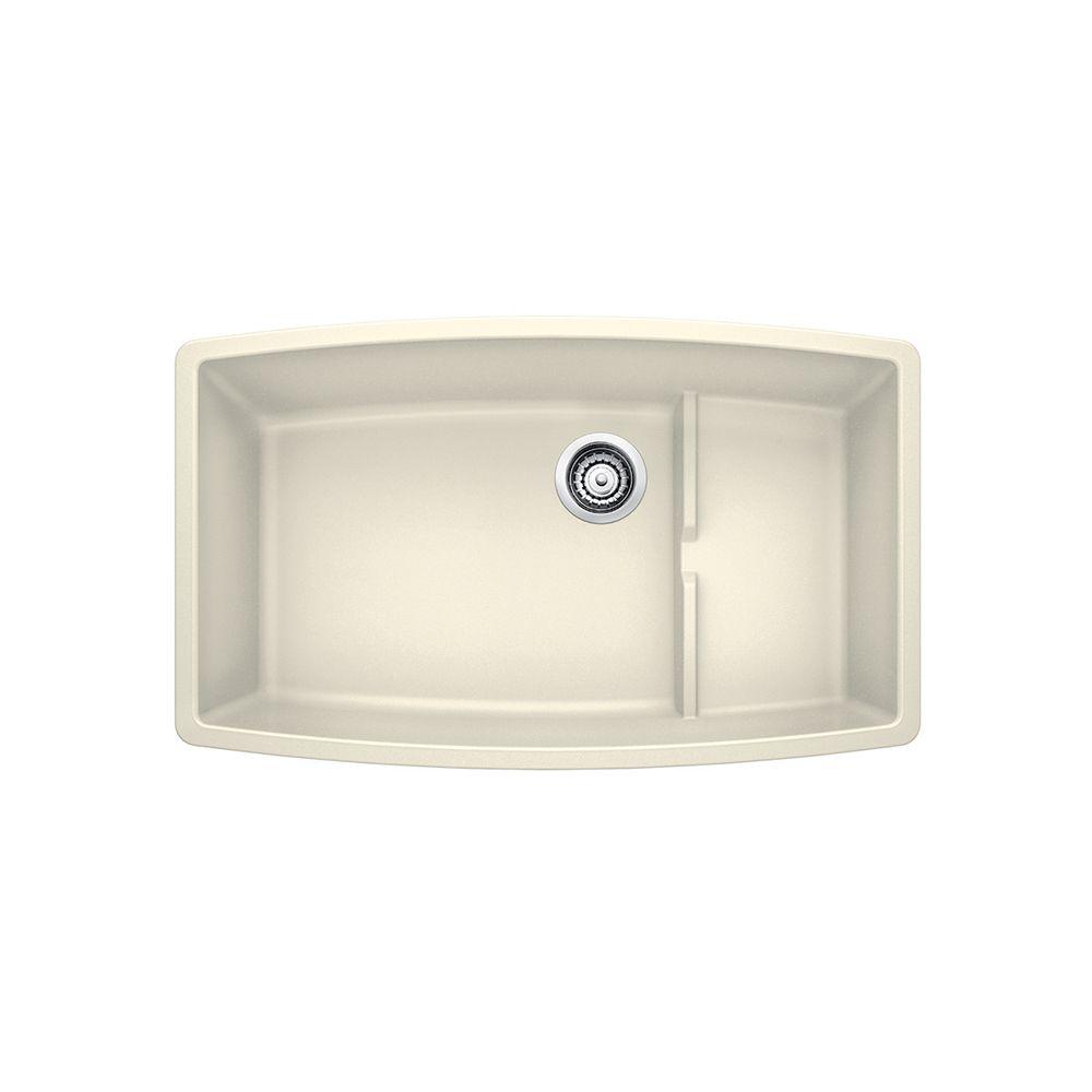 Blanco PERFORMA Cascade Undermount Sink, SILGRANIT, Biscuit