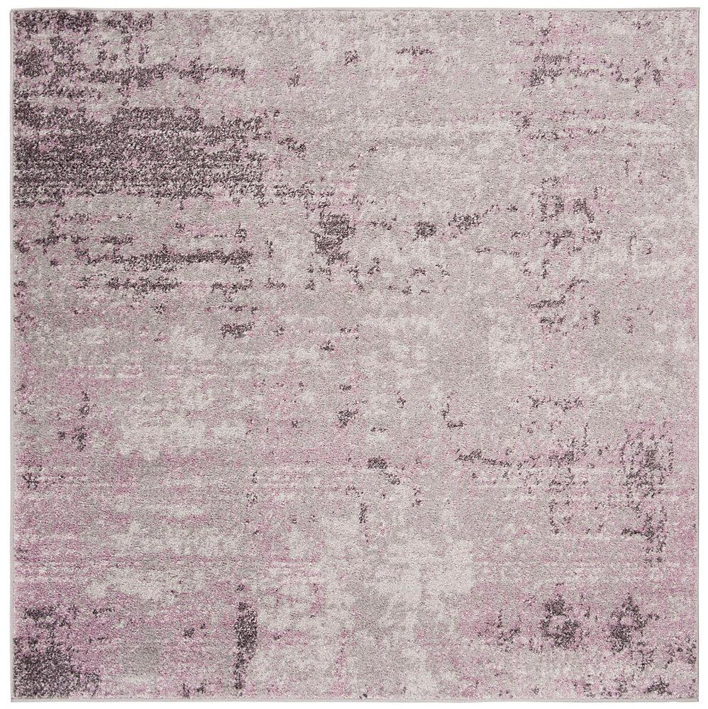Tapis d\'intérieur carré, 6 pi x 6 pi , Adirondack Ace, gris clair / violet