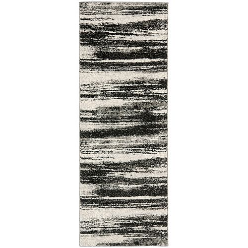 Safavieh Retro Aisha Dark Grey / Light Grey 2 ft. 3-inch x 13 ft. Indoor Runner