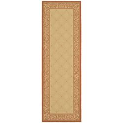 Safavieh Courtyard Elena Natural / Terracotta 2 ft. 3-inch x 6 ft. 7-inch Indoor Runner