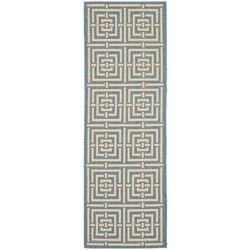 Safavieh Courtyard Paul Blue / Bone 2 ft. 3-inch x 6 ft. 7-inch Indoor Runner