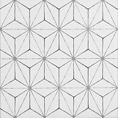Plancher en feuilles adhésives, vinyle, 12 po x 12 po, Kikko, 20 pi²/boîte