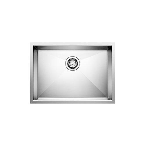 QUATRUS U 1 Medium ADA/CSA Undermount Sink, Stainless Steel