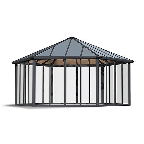 Pavillon de jardin Garda fermé