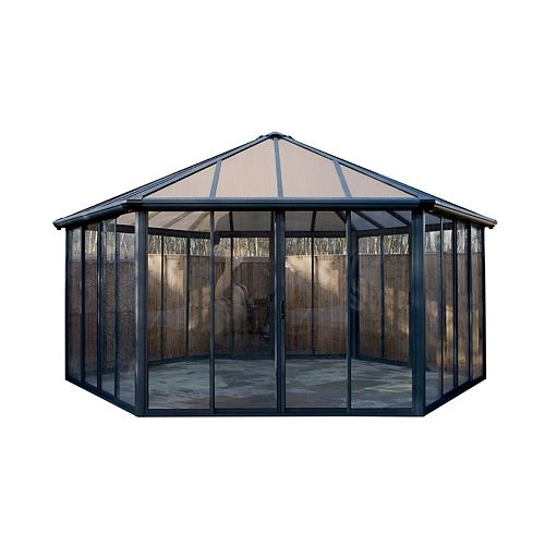 Palram Garda Closed Gazebo with Screen Doors