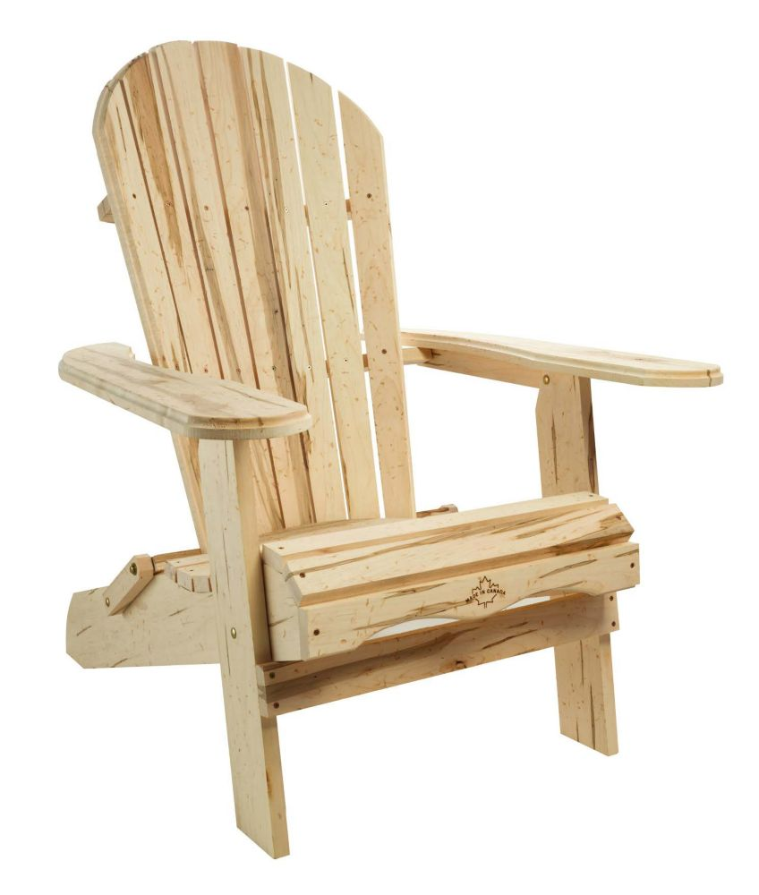 Cape Cod Wormy Maple Adirondack Chair The Home Depot Canada